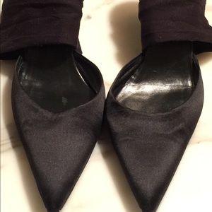 Elegant Helmut Lang's satin shoes